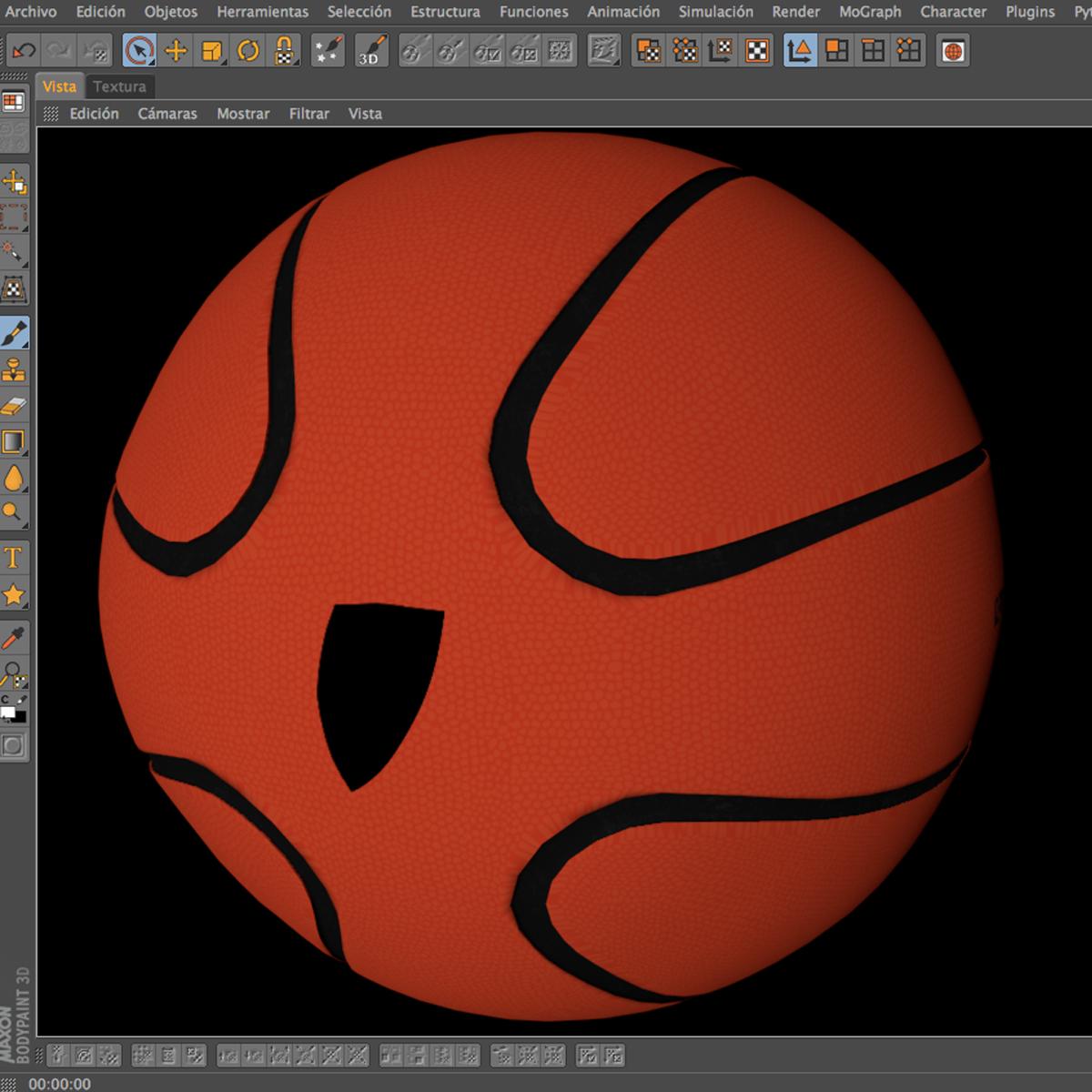 basketball ball star orange 3d model 3ds max fbx c4d ma mb obj 165725