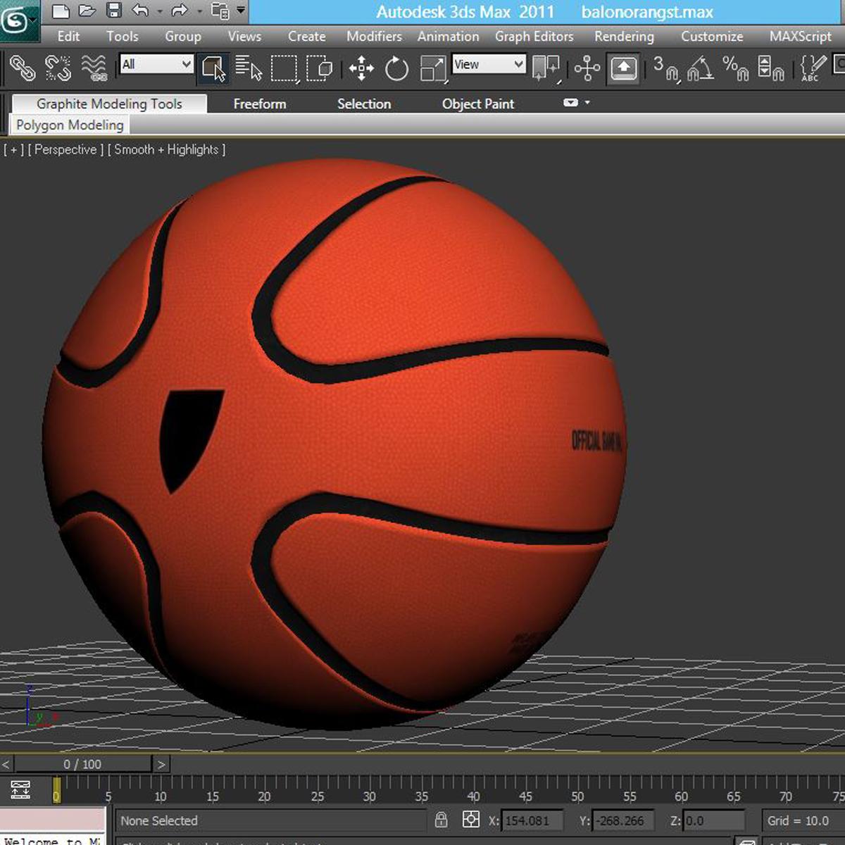 basketball ball star orange 3d model 3ds max fbx c4d ma mb obj 165726