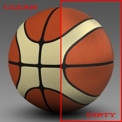 Basketball ball EBA 3d model 3ds max fbx c4d ma mb obj