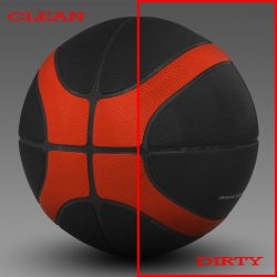 Basketball ball EBA black 3d model 0