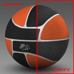 Basketball ball euro black 3d model 0