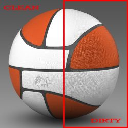 Basketball ball Euro white 3d model 0