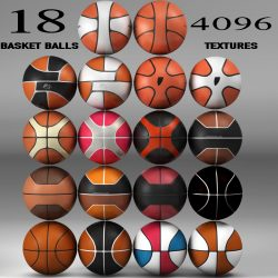 Basketball ball Set 3d model 0