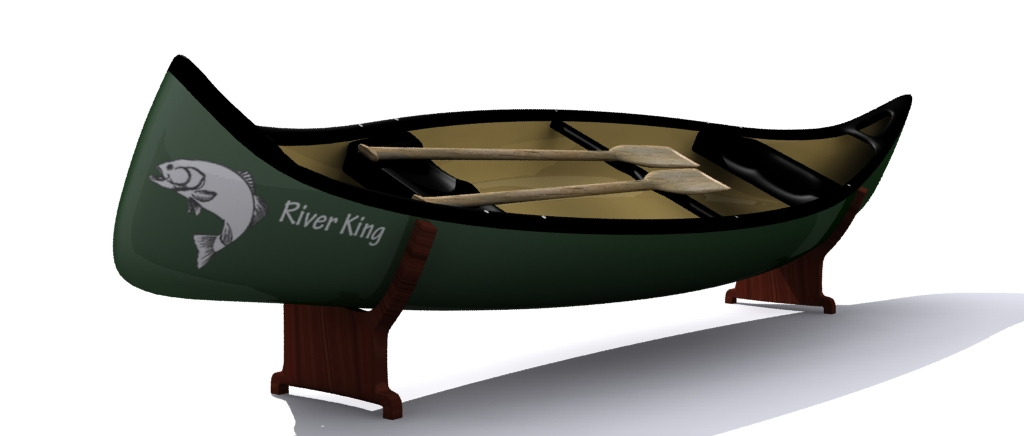 canoe 3d model 3ds max fbx obj 157530