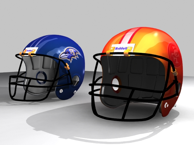 helmet football 3d model 3ds max fbx 150753