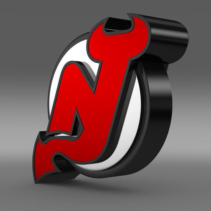 new jersey devils logo 3d model 3ds max fbx c4d lwo ma mb hrc xsi obj 145132