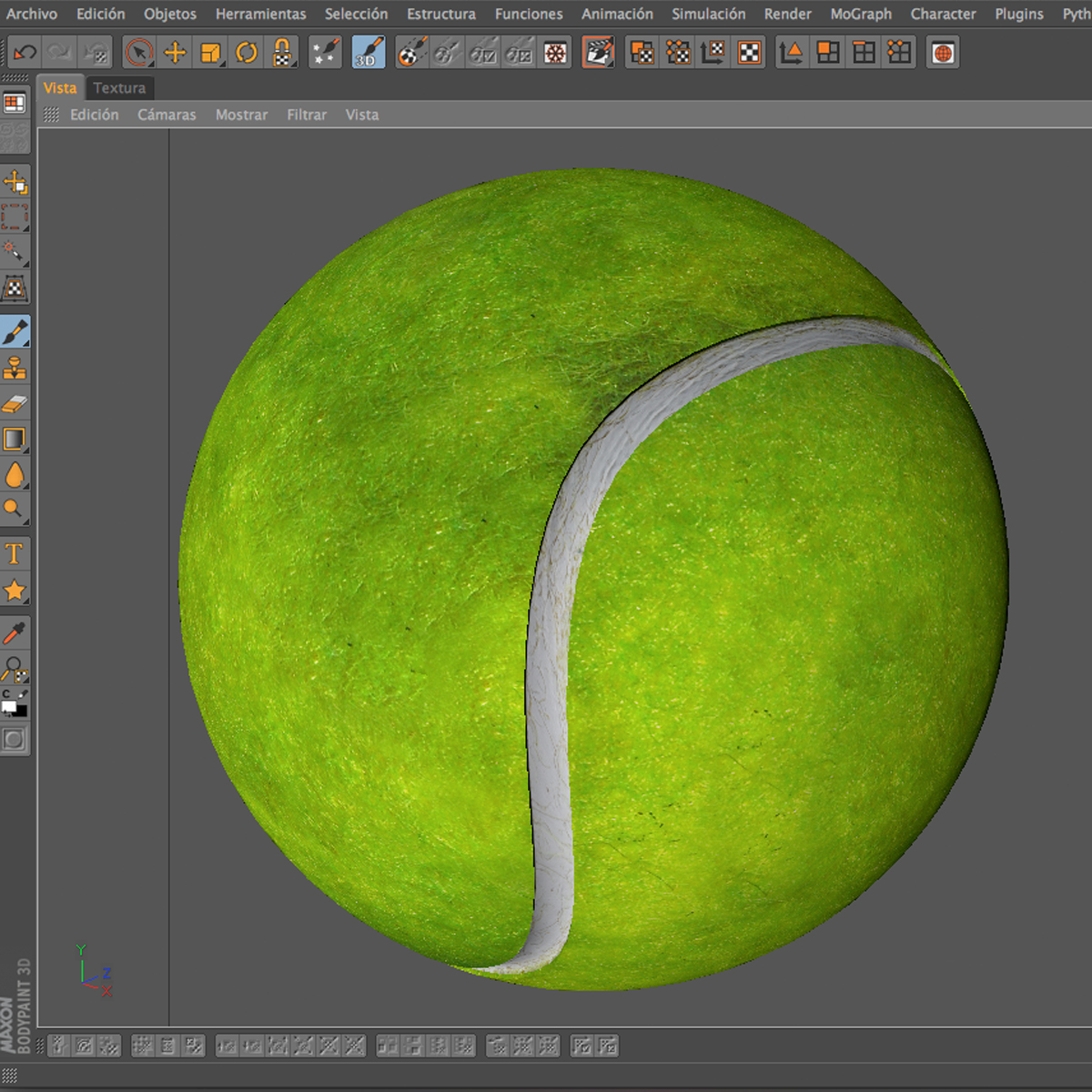 tennis ball lowpoly 3d model 3ds max fbx c4d ma mb obj 166105