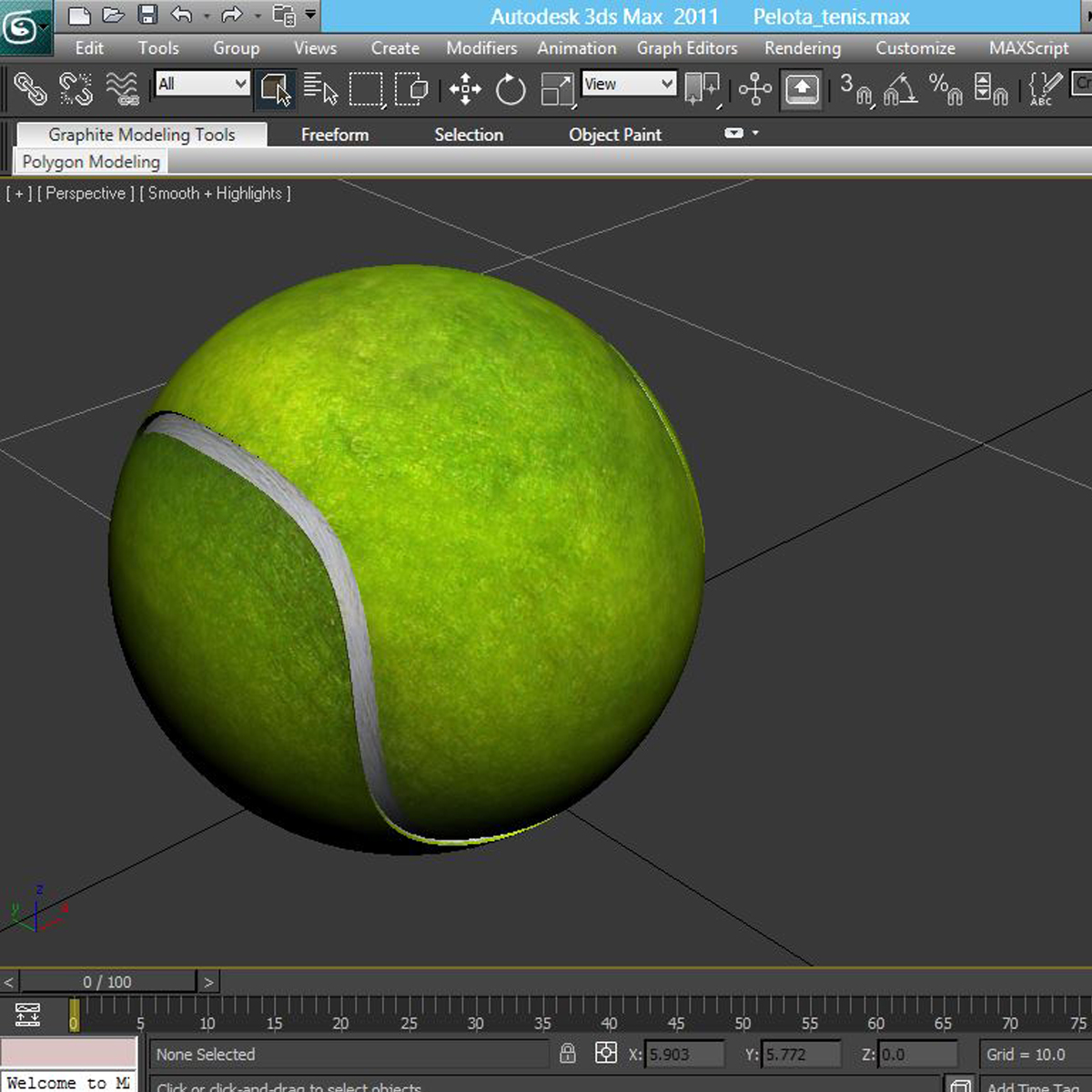 tennis ball lowpoly 3d model 3ds max fbx c4d ma mb obj 166107