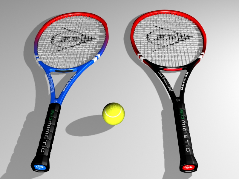 raket tenis 3d model 3ds max 147779
