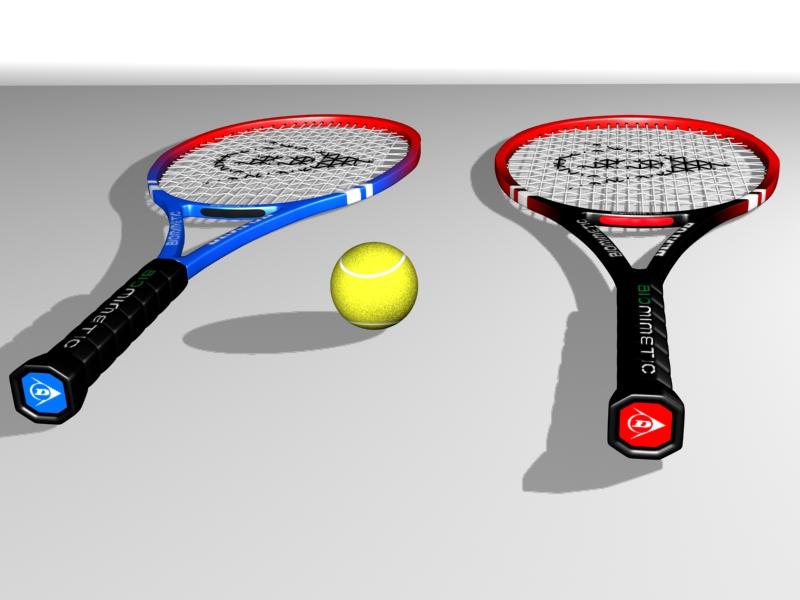 tennis racket 3d model 3ds max 147780