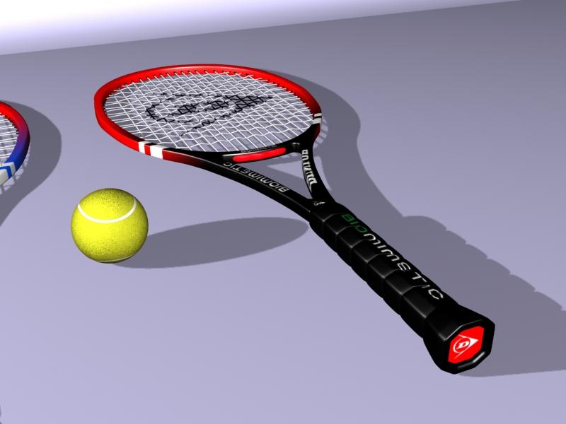 tennis racket 3d model 3ds max 147781
