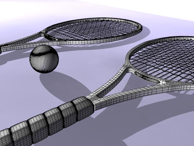 tennis racket 3d model 3ds max 147784