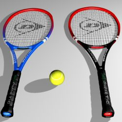 Tennis Racket 3D ( 209.29KB jpg by emiliogallo )