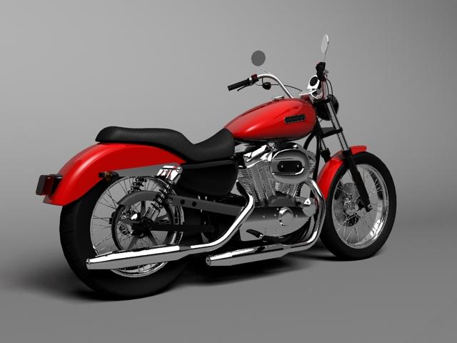 harley davidson xl883 sportster custom 2009 3d model 3ds max c4d obj 147615