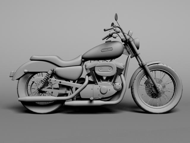 harley davidson xl883 sportster custom 2009 3d model 3ds max c4d obj 147624