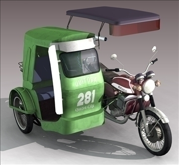 philippine tricycle 3d model 3ds lwo other tiff obj 97327