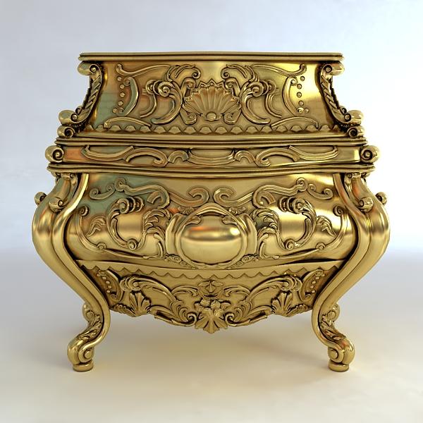 baroque cornelio cappellini bombe chest 3d model max obj 120836