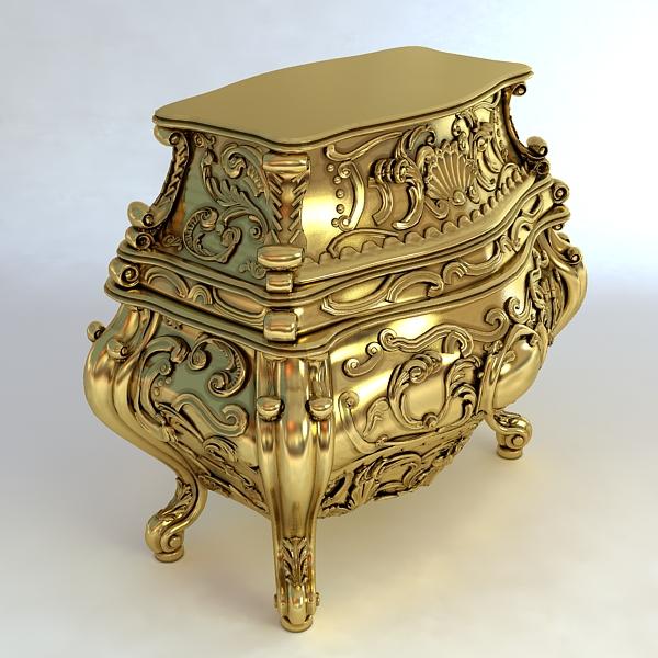 baroque cornelio cappellini bombe chest 3d model max obj 120837