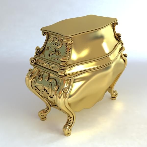 baroque cornelio cappellini bombe chest 3d model max obj 120838