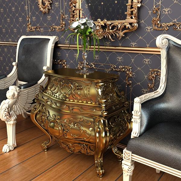 baroque cornelio cappellini bombe chest 3d model max obj 120839