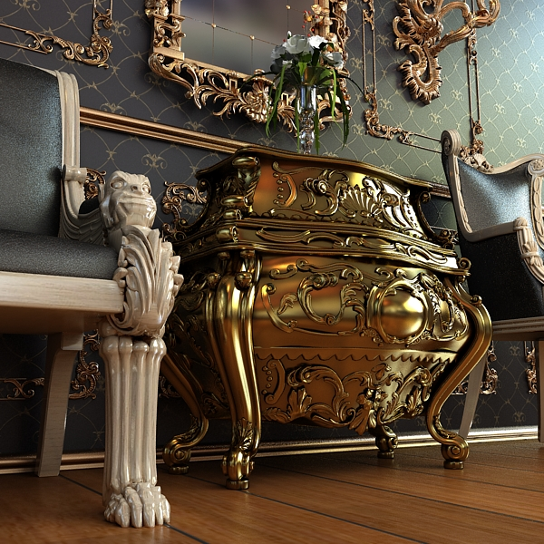 baroque cornelio cappellini bombe chest 3d model max obj 120840