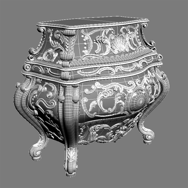 baroque cornelio cappellini bombe chest 3d model max obj 120841