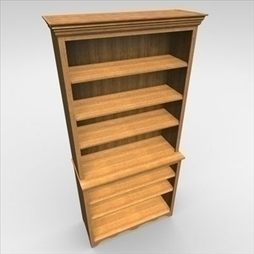 bookshelf 3d model 3ds dxf fbx c4d obj 85435