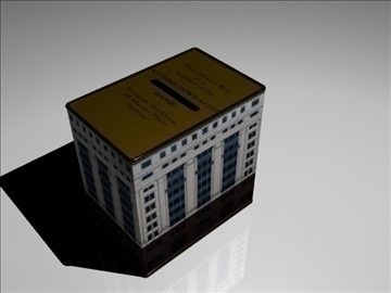 Commonwealth bank box box 3d modelo 3ds max fbx obj 93605