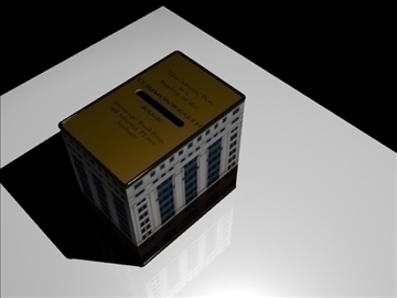 commonwealth bank money box 3d model 3ds max fbx obj 93606