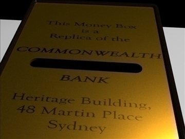 commonwealth bank money box 3d model 3ds max fbx obj 93608