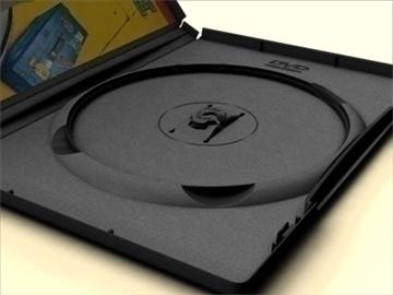 dvd case amaray 3d model 3ds max lwo obj other 89961