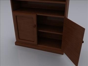 realistic bookcase 3d model 3ds max fbx obj 93017