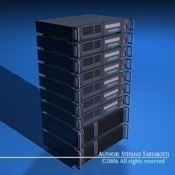 server 3d model 3ds dxf c4d obj 84894