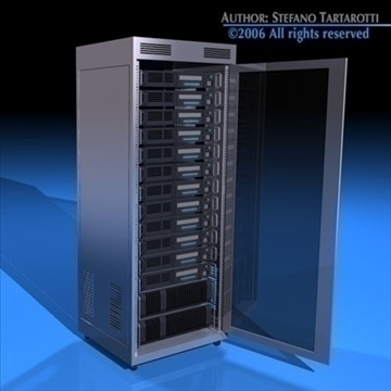 rack del servidor 3d model 3ds dxf c4d obj 84883