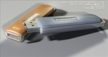 usb flash memory transcend 3d model max 80944