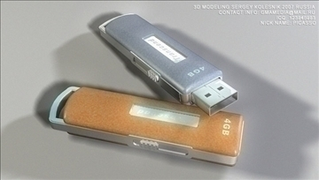 usb flash memory transcend 3d model max 80945
