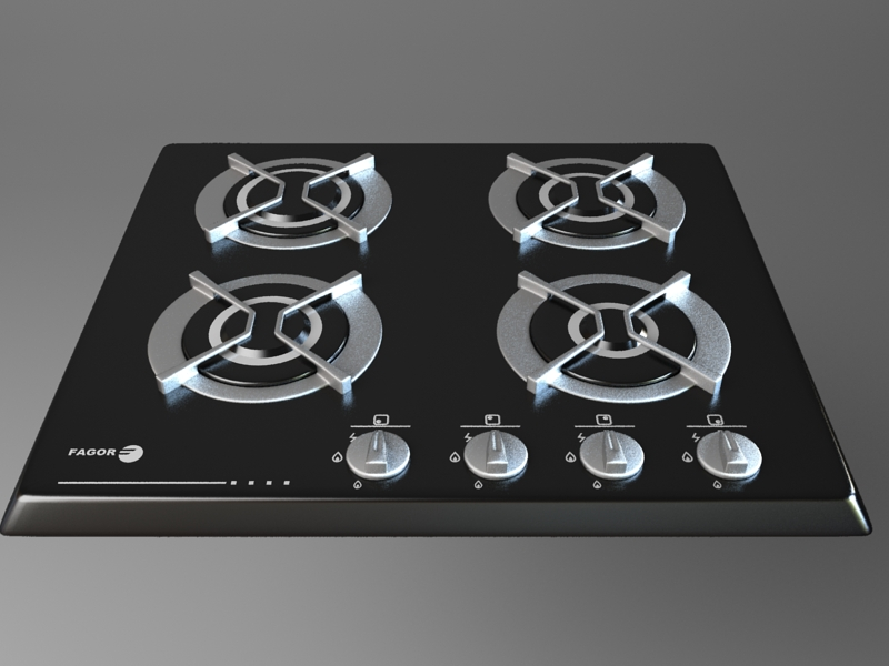 gas cooker 2 3d model 3ds max fbx obj 115004
