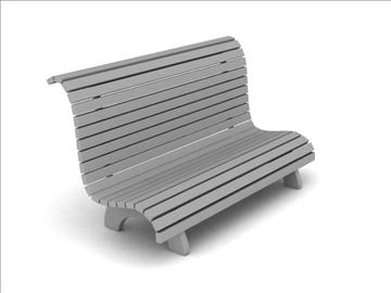 bench 3d model obj 111743