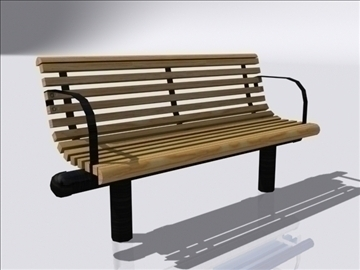 bench 3d model 3ds max obj 112081