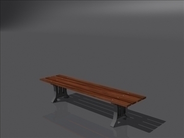 bench d 3d model 3ds max obj 112086