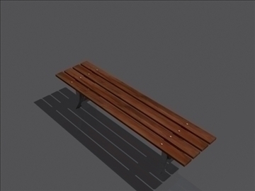 bench d 3d model 3ds max obj 112088