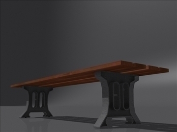 bench d 3d model 3ds max obj 112089
