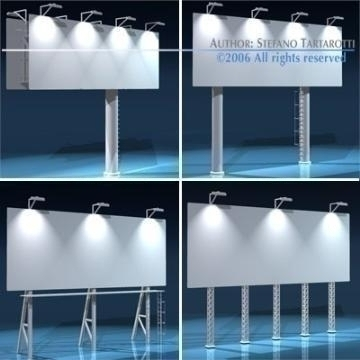 billboard set 3d model 3ds dxf obj 77546
