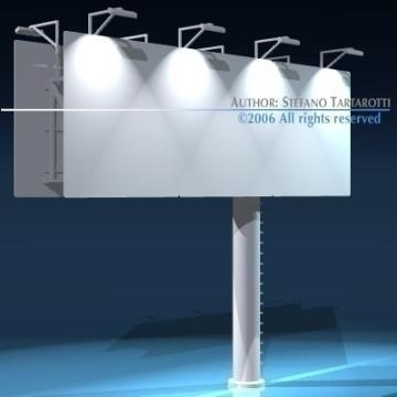 billboard set 3d model 3ds dxf obj 77547