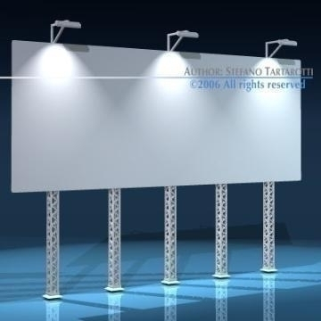 billboard set 3d model 3ds dxf obj 77550