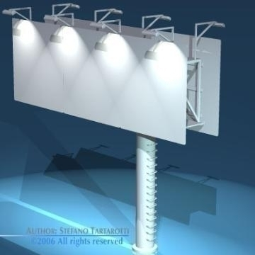 billboard1 3d model 3ds dxf obj 77566