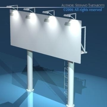 billboard2 3d model 3ds dxf obj 77572