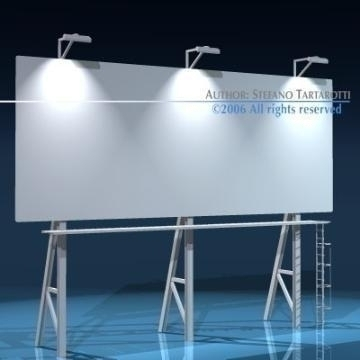 billboard3 3d modelo 3ds dxf obj 77574