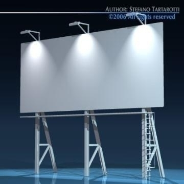 billboard3 3d model 3ds dxf obj 77575