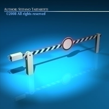 boundary automatic barrier 3d model 3ds dxf c4d obj 88142